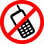 no mobiles sign