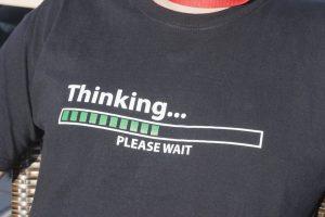 thinking . . . please wait